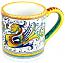 ceramic majolica coffee mug cup raffaellesco small F