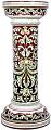 Ceramic Majolica Column Plant Stand Red Black 70cm