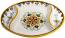 Ceramic Maiolica Oval Antipasto Serving Tray Dish 26cm