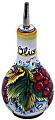 Ceramic Majolica Olive Oil Dispenser Red grapes 16cm