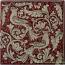 Tile Fonda Rossa - Red Doves Corner 2