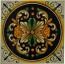 Tile Ornato Black Green Gold
