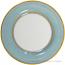 Italian Dinner Plate Yellow Rim Solid Teal