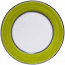 Italian Charger Plate - Black Border Solid Meadow Green - Prato