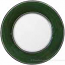 Italian Dinner Plate Black Rim Solid Green