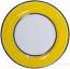Italian Dinner Plate Black Rim Solid Yellow - Giallo
