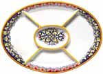 Ceramic Maiolica Oval Antipasto Serving Tray Dish 37cm