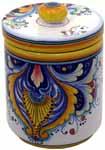 Ceramic Majolica Covered Kitchen Jar 193 19cm