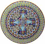 Ceramic Majolica Plate Deruta Ricco G04 Flare 739 35cm