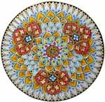 Ceramic Majolica Plate G03 Orange Red 739 35cm