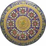Ceramic Majolica Plate G04 G08 FDL Brown Blue Red 63cm