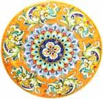 Ceramic Majolica Plate G06 G04 Dolphin Fish Orange 52cm