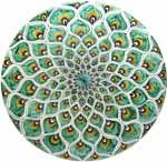 Ceramic Majolica Plate Peacock Green MRN 30cm