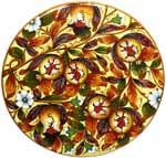 Ceramic Majolica Plate Tuscany Pomegranate NN 52cm