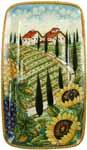 Ceramic Majolica Plate VT Tuscany Grape Country 4424