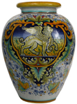 Italian Ceramic Floor Vase - Griffin