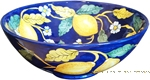 Majolica Serving Bowl - Blue Lemon -25cm