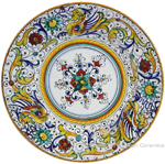 Deruta Italian Salad Plate - Raffaellesco with Center