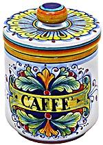 Ceramic Majolica Coffee Jar 90 Ramina 13cm