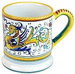 ceramic majolica coffee mug cup raffaellesco large F