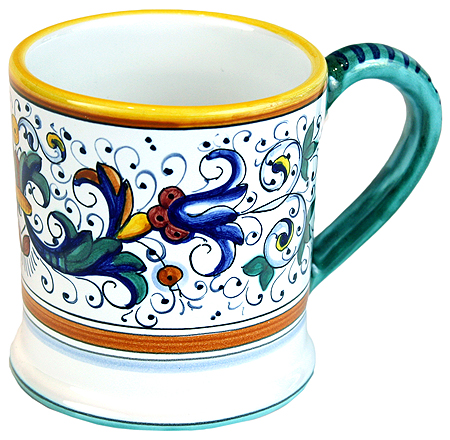ceramic majolica coffee mug cup ricco deruta large F