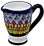 Ceramic Majolica Creamer Blue NV Deruta-Ricco 9cm