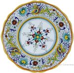 Deruta Italian Dinner Plate - Raffaellesco Scalloped with Center