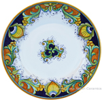 Deruta Italian Dinner Plate - Vinci Ricco