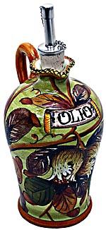 Ceramic Majolica Olive Oil Dispenser Pomegranate N 20cm