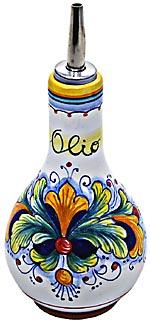 Ceramic Majolica Olive Oil Dispenser Ramina 90 16cm