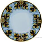 Deruta Italian Pasta Plate - FDL Black/Brown