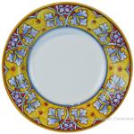 Deruta Italian Pasta Plate - FDL Yellow/Soft Blue