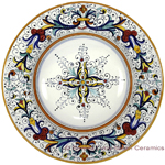 Deruta Italian Pasta Plate - Ricco Deruta with Center