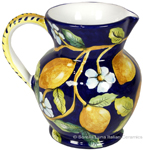 Ceramic Majolica Pitcher Lemons
