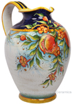 Ceramic Majolica Pitcher Pomegranate 1029 42cm