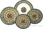 Deruta Italian Ceramic Dinner Place Setting - Geometrico
