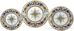 Deruta Italian Ceramic Dinner Place Setting - Ricco Deruta with Center