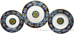 Deruta Italian Ceramic Dinner Place Setting - Ricco Vario 4