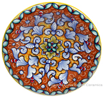 Ceramic Majolica Plate FDL Orange Yellow 12cm