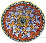 Ceramic Majolica Plate FDL Orange Yellow 12cm