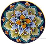 Ceramic Majolica Plate G04 Brown Light Blue 12cm