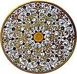 Ceramic Majolica Plate G04 Calendula Cobalt Lustro 30cm