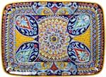 Deruta Italian Ceramic Rectangular Platter - Derua Ricco VR