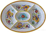 Maiolica Oval Antipasto Serving Tray Dish - Raffaellesco 37cm