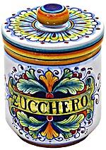 Ceramic Majolica Sugar Jar 90 Ramina 13cm