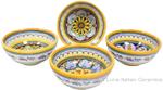 Italian Ceramic Maiolica Vario Bowl set GG 10cm