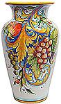 Deruta Italian Ceramic Vase - Frutta Festone