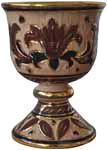 Wine Chalice/Goblet - Marrone Oro Graffito
