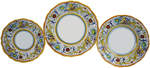 Deruta Italian Ceramic Dinner Place Setting - Raffaellesco Scalloped