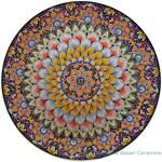 Ceramic Majolica Plate - Flower Red Blue 47cm